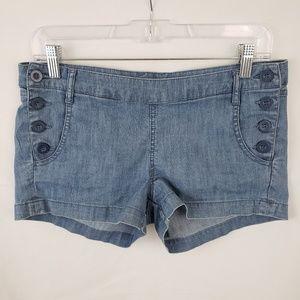 2.1 Denim Sailor Side Button Shorts Size 27